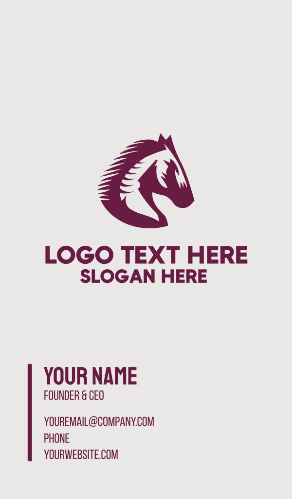 Medieval Stallion Shield Business Card