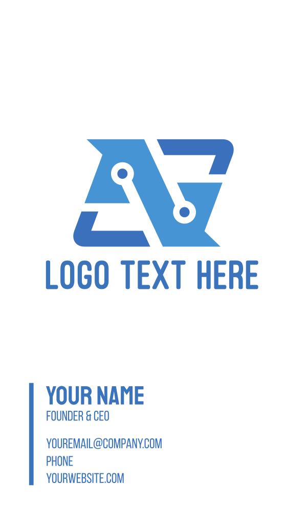 Tech Letter N Business Card