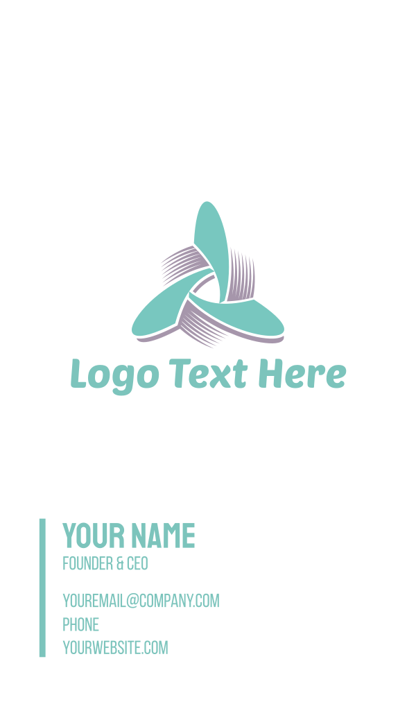 Propeller Triangle Business Card