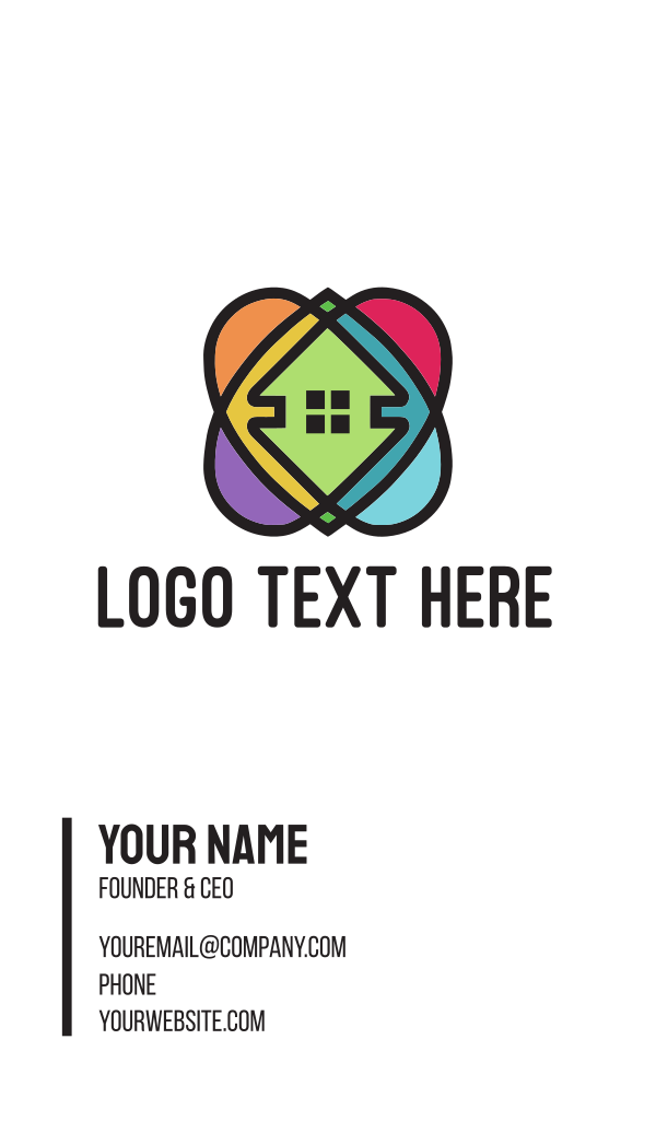 Colorful 360 Homes Business Card