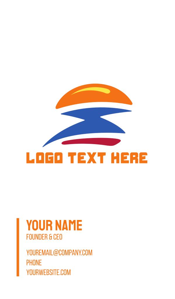 Fast Burger Flash Business Card