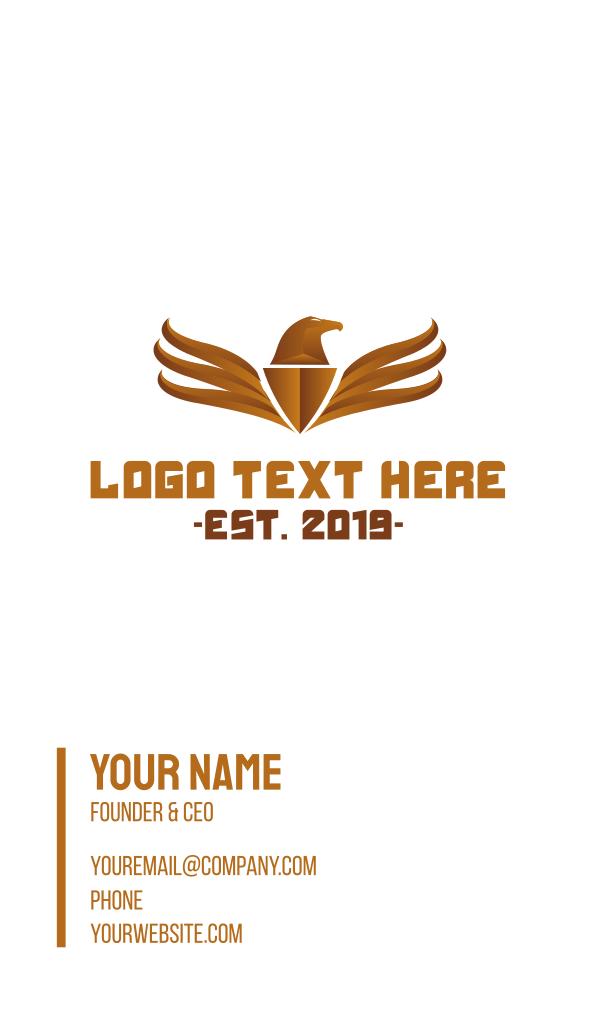 Bronze Eagle Emblem Business Card