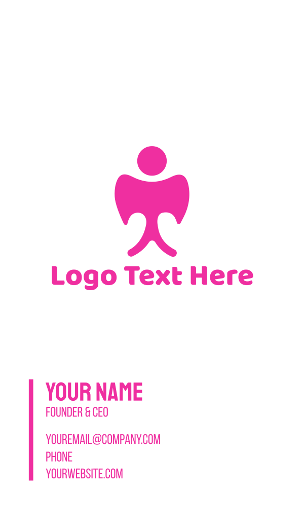 Pink Angel Business Card
