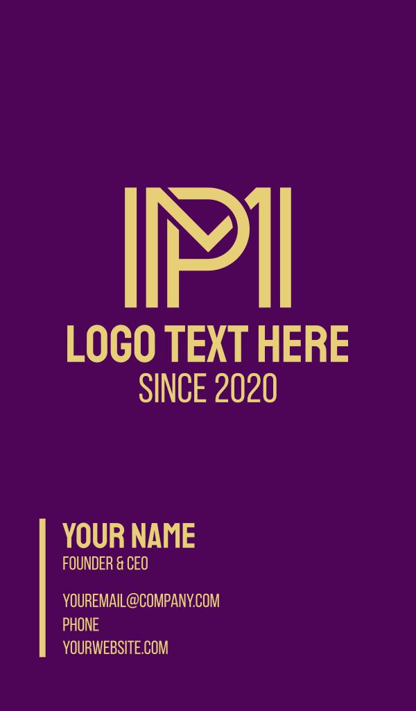Modern Yellow MP Business Card