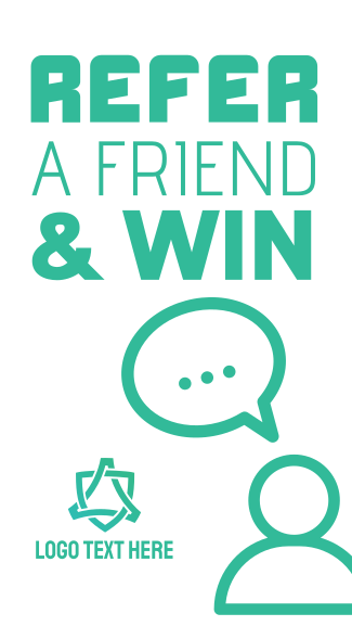 Refer a friend & win Facebook story
