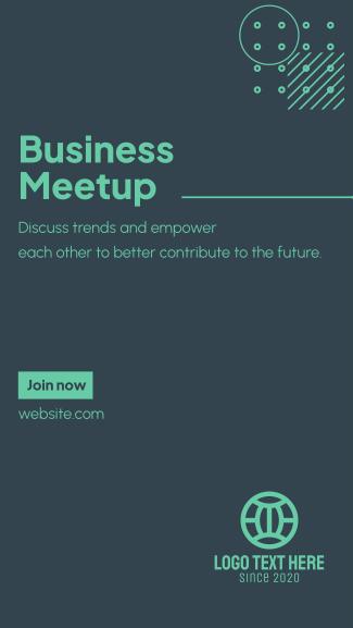 Business Meetup Facebook story