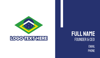 Brazil Symbol Business Card