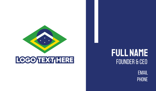 brazilian - Brazil Symbol Business card horizontal design