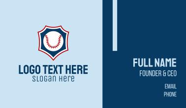 Baseball Ball Emblem Business Card