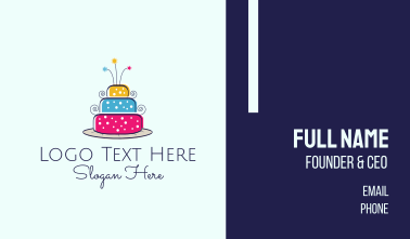 Colorful Cake Business Card