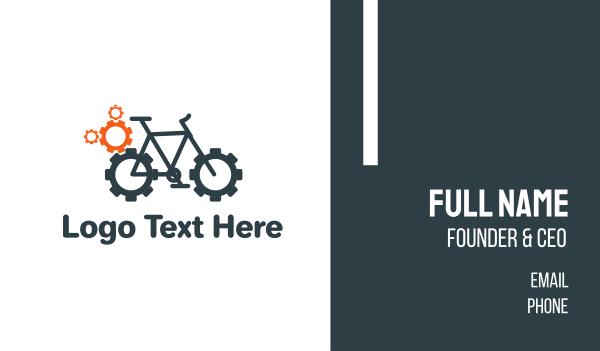 cogwheel - Bike Garage Business card horizontal design