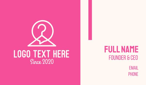 social network - Hanger Chat Messaging Business card horizontal design