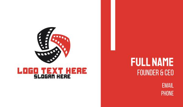 reel - Spinning Film Business card horizontal design