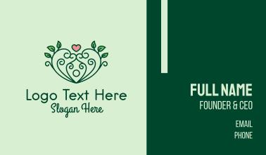 Natural Herbal Heart Business Card