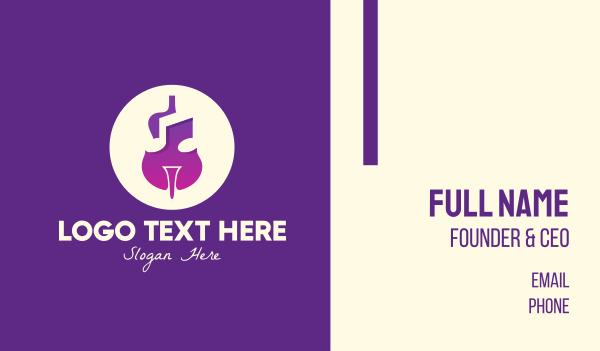 viola - Purple Gradient Violin Business card horizontal design