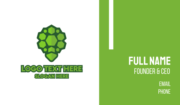 turtle - Rock Turtle Shell Business card horizontal design