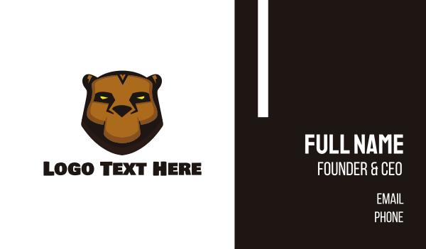 furious - Tribal Bear Business card horizontal design