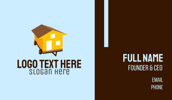 accommodation - Mobile Home Moving Business card horizontal design