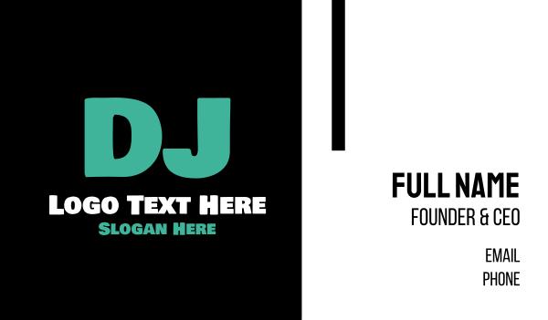 electronic music - DJ Letter Business card horizontal design
