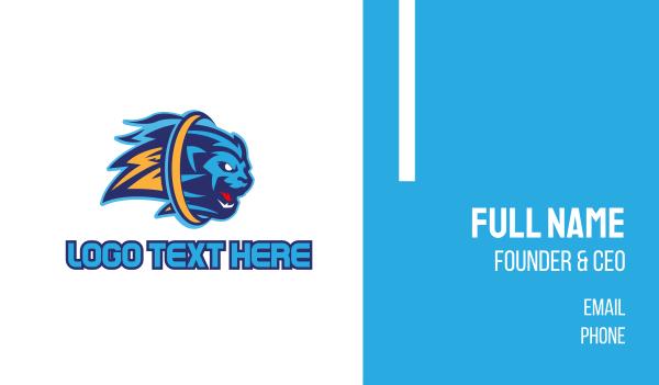 blue lion - Blue Lion Esports Gaming Business card horizontal design