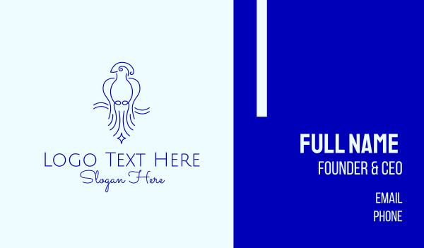 macaw - Minimalist Elegant Bird  Business card horizontal design