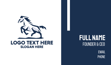 Professional Stallion Horse  Business Card