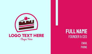 Pink Cake Business Card