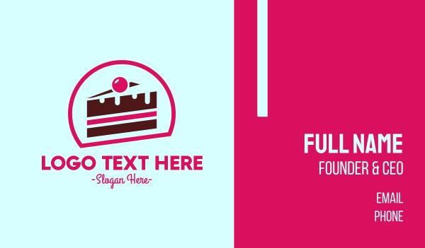 birthday cake - Pink Cake Business card horizontal design
