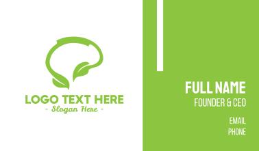 Green Natural Thinking Business Card