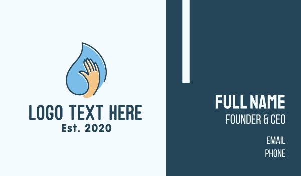 finger - Hand Sanitizing Liquid Business card horizontal design