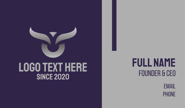fierce - Silver Bull Business card horizontal design