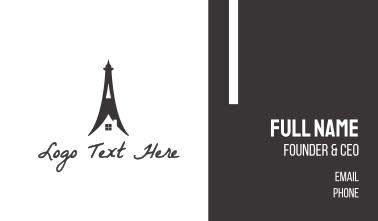 Eiffel Tower Home Business Card