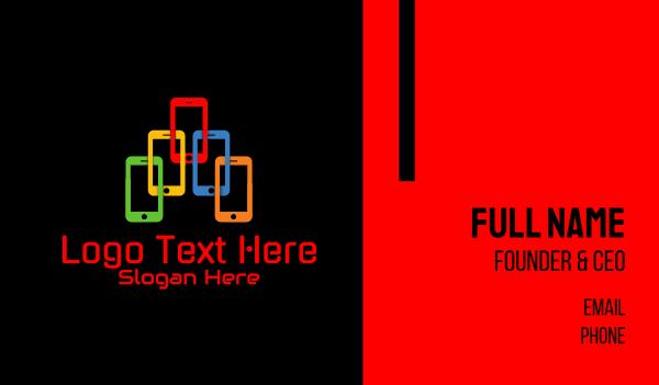 it expert - Mobile Phone Gadget  Business card horizontal design