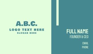 ABC Alphabet Business Card