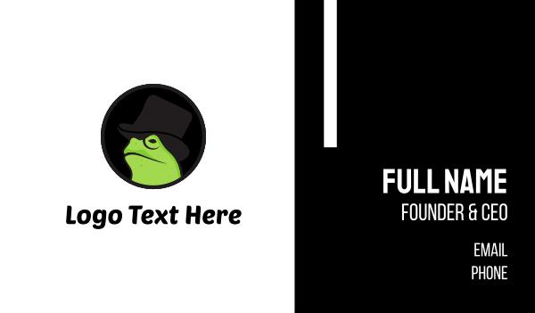 black hat - Mister Frog Business card horizontal design