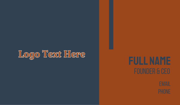 textbook - Rusty Orange Bookstore Business card horizontal design