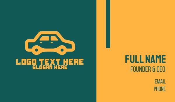 smart car - Orange Car Repair Business card horizontal design