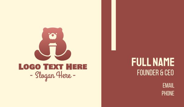 brown bear - Brown Bear Coffee Business card horizontal design