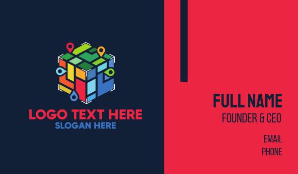 place - Locator Cube Business card horizontal design