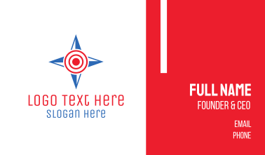 Compass Target Business Card