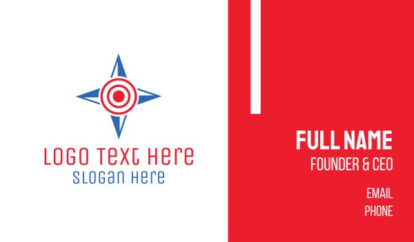 target - Compass Target Business card horizontal design