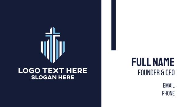 blue cross - Blue Cross Shield Business card horizontal design