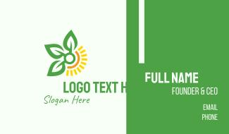 Sunshine Leaf Farm  Business Card