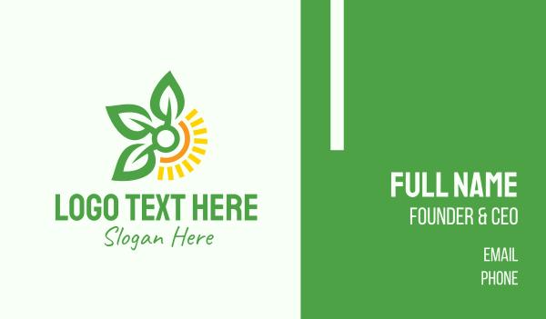 farming - Sunshine Leaf Farm  Business card horizontal design