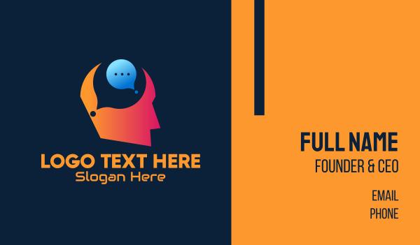 think - Idea Chat Bubble Business card horizontal design