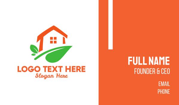 tea house - Plant House Business card horizontal design