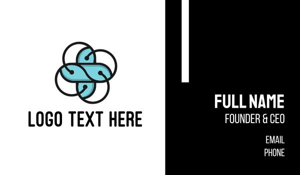 drugmaker - Abstract Flower Cross Business card horizontal design