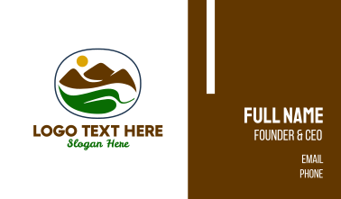 Mountain Leaf View  Business Card