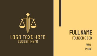 Professional Legal Attorney Business Card
