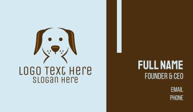 Pet Puppy Dog Face Business Card